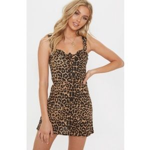 Pretty Little Thing leopard print mini dress
